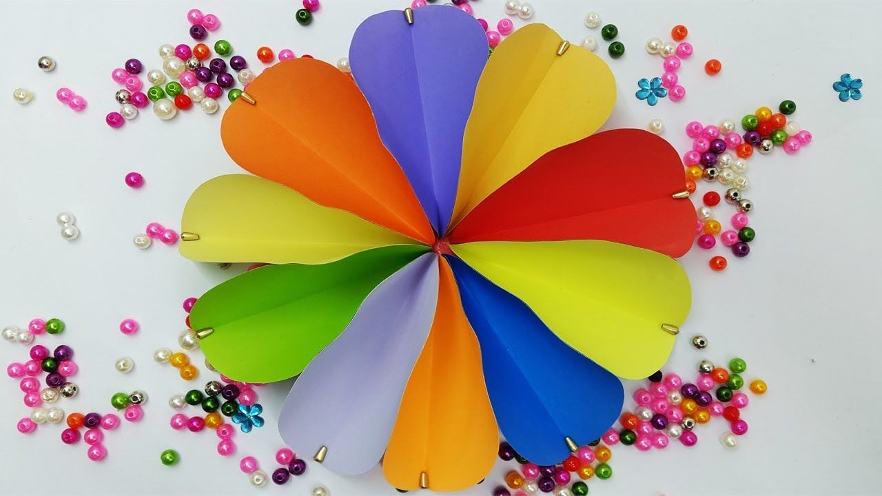 Paper Flower Tutorial Wall Decoration Ideas Diy Room Decor Paper
