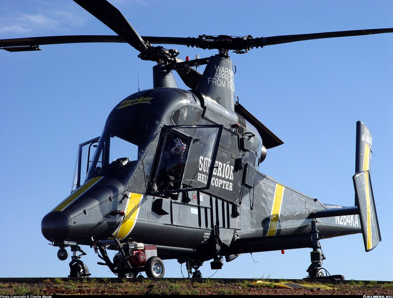 Kaman K-MAX is an American helicopter with intermeshing rotors built by Kaman Aircraft.