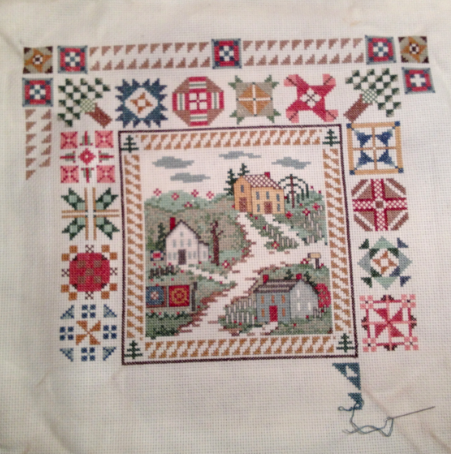 crosstitch quilt block | Thread: Cross stitch quilting blocks ... : cross stitch quilt kits - Adamdwight.com