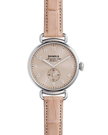 $Shinola The Canfield Alligator Strap Watch, 38mm - Bloomingdale's