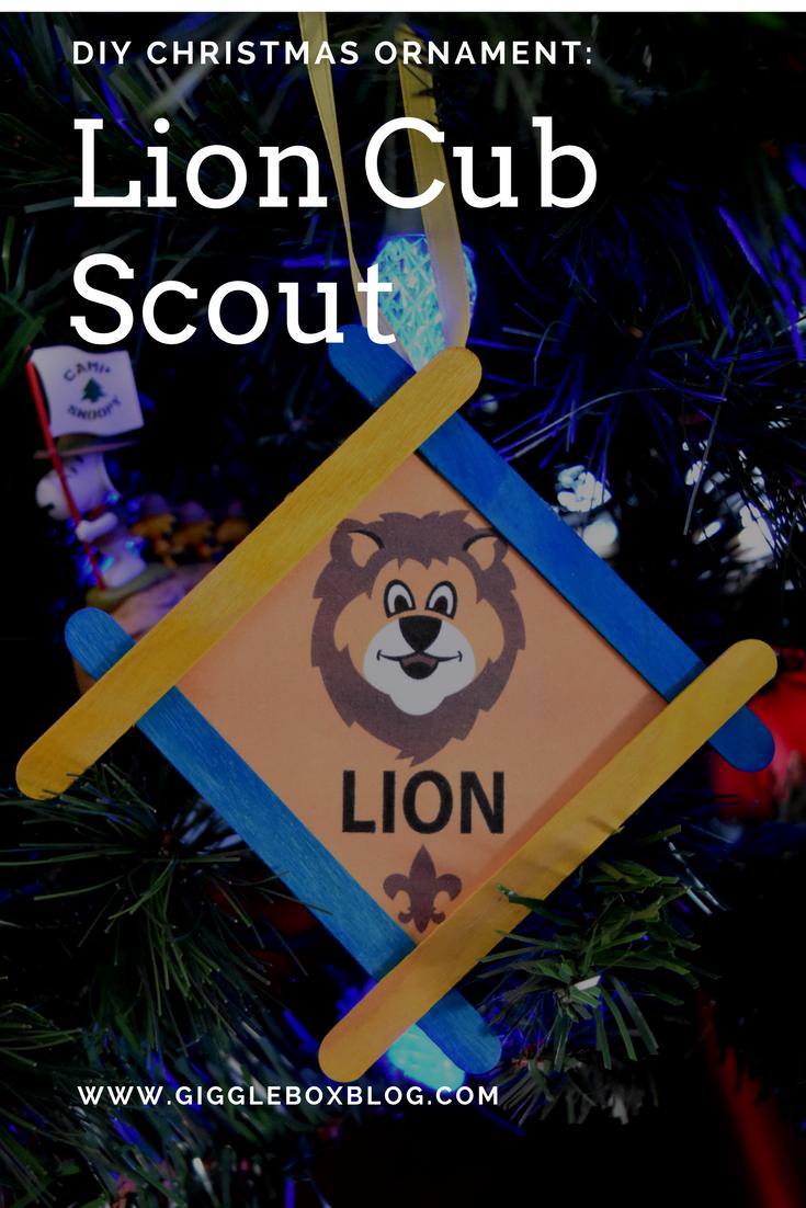 Lion Cub Scout Christmas Ornament #cubscouts