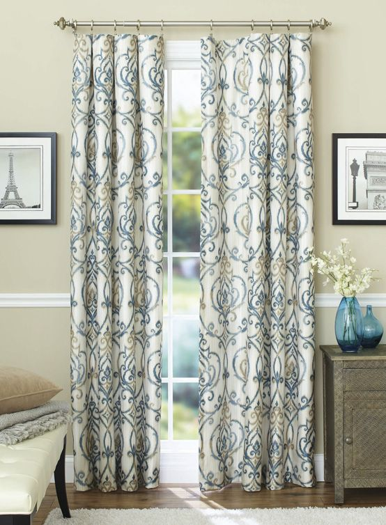 Better Homes Gardens Ikat Scroll Curtain Panel Walmart Com