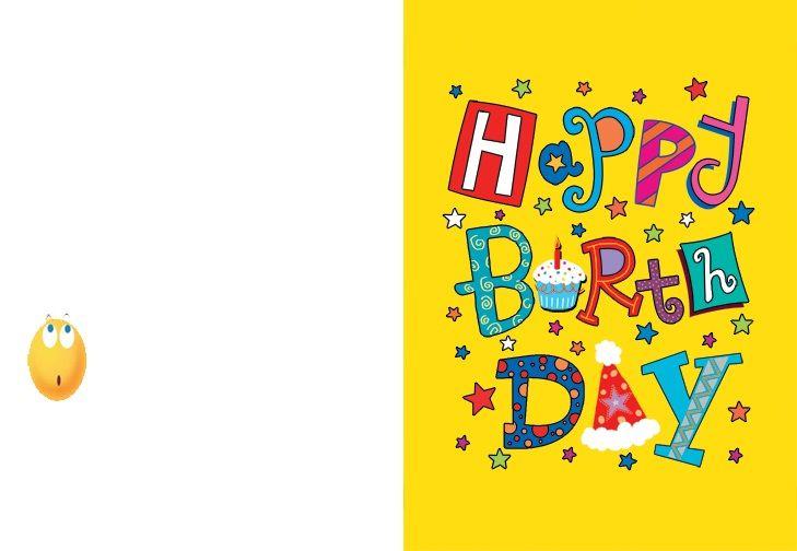 Birthday Card Template Birthday Calendar Template Pinterest