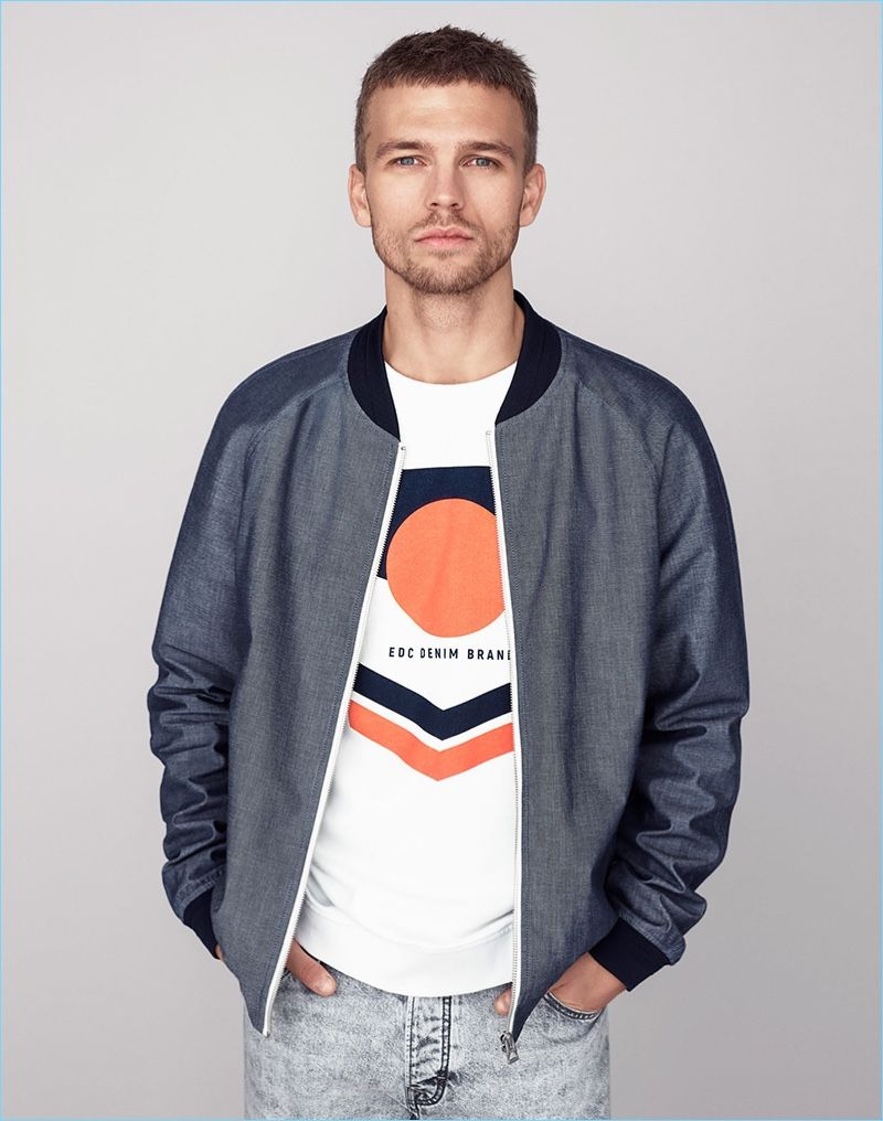 Image result for graphic tee in jacket