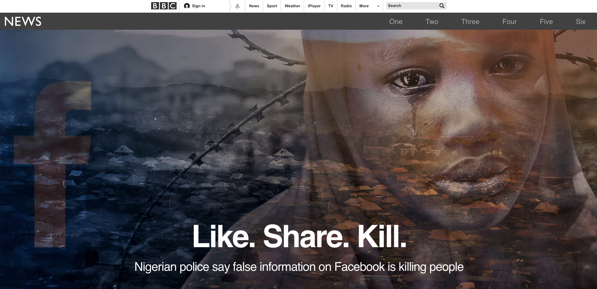 "Nigerian police say ""fake news"" on Facebook is killing people in"