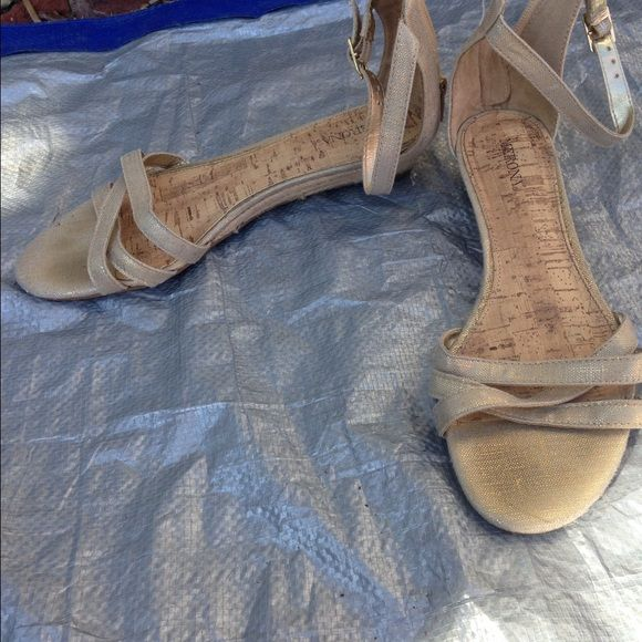 Merona strappy sandals Great condition-tiny heel Merona Shoes Sandals