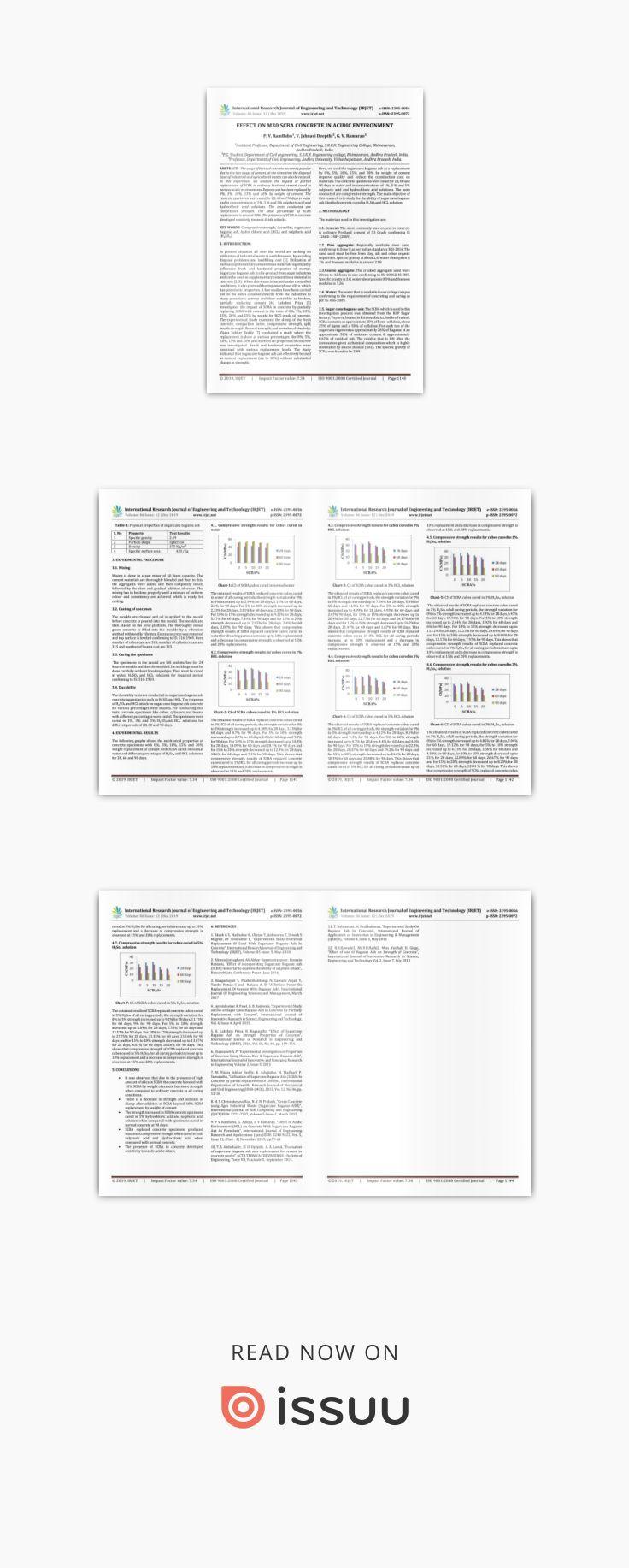 IRJET Effect on M30 SCBA Concrete in Acidic Environment