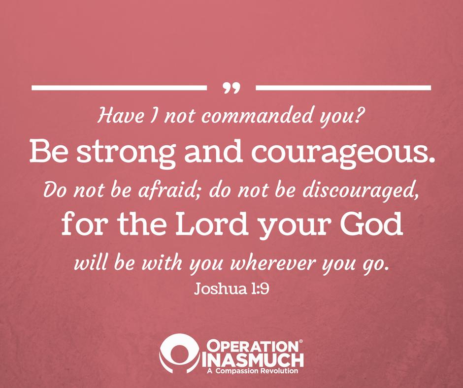 Joshua 1:9 #VerseOfTheWeek #Bold #Courageous