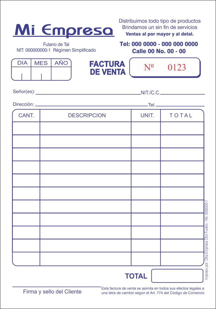 Resultado De Imagen Para Imagenes De Una Factura De Venta Cartas De Presentacion Del Curriculum Presupuesto Excel Facturas