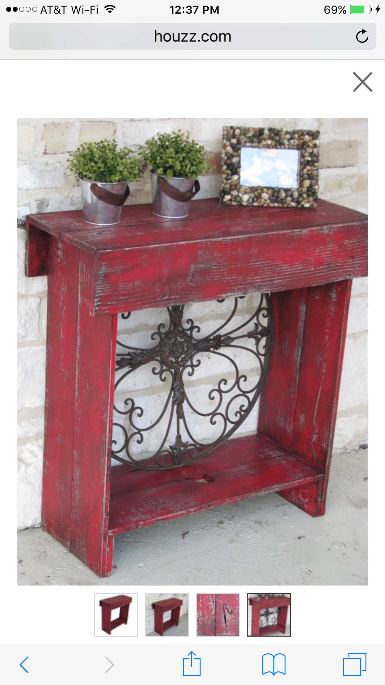 Skinny Console Table Farmhouse Red Rustic Furniture Diy