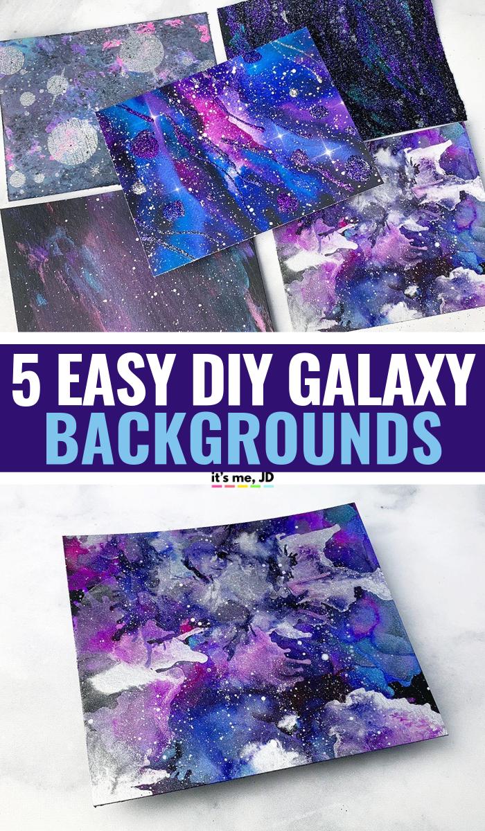 Еще 5 простых способов создать фон галактики своими руками