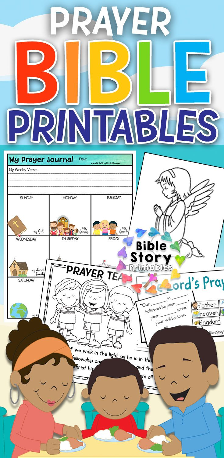 Prayer Bible Printables Kids prayer journal, Kids bible