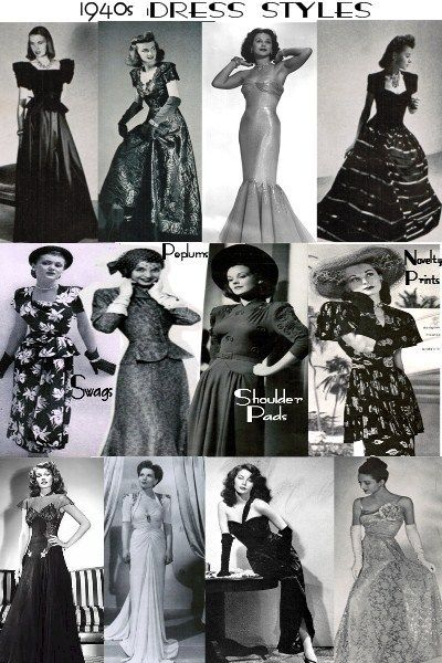 1940 Old-Fashioned Dresses