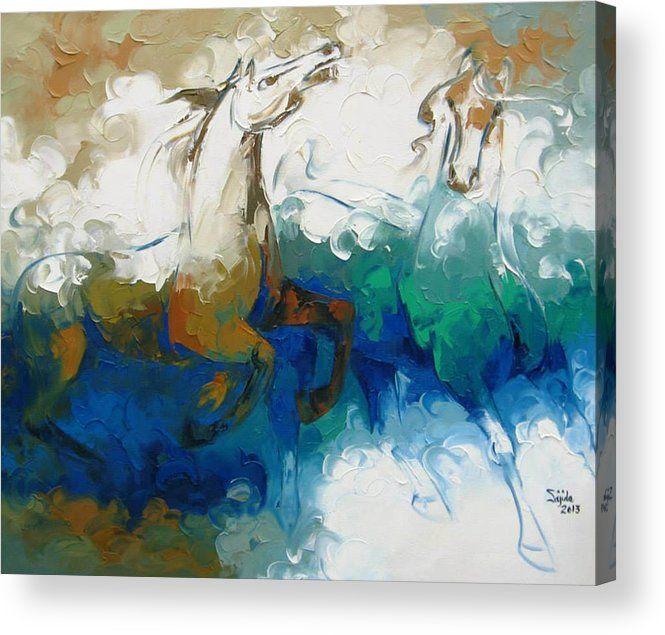 Horse art print by fine artist sajida hussain toronto on canada