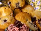 Blueberry Muffin  My favorite blueberry muffin recipe. Not too sweet. I add some orange or lemon zest to liven it up a bit.