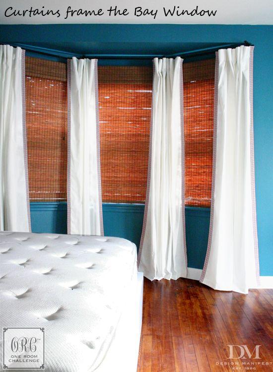 Window Treatments For Bay White With Greek Key Trim By Design Manifest