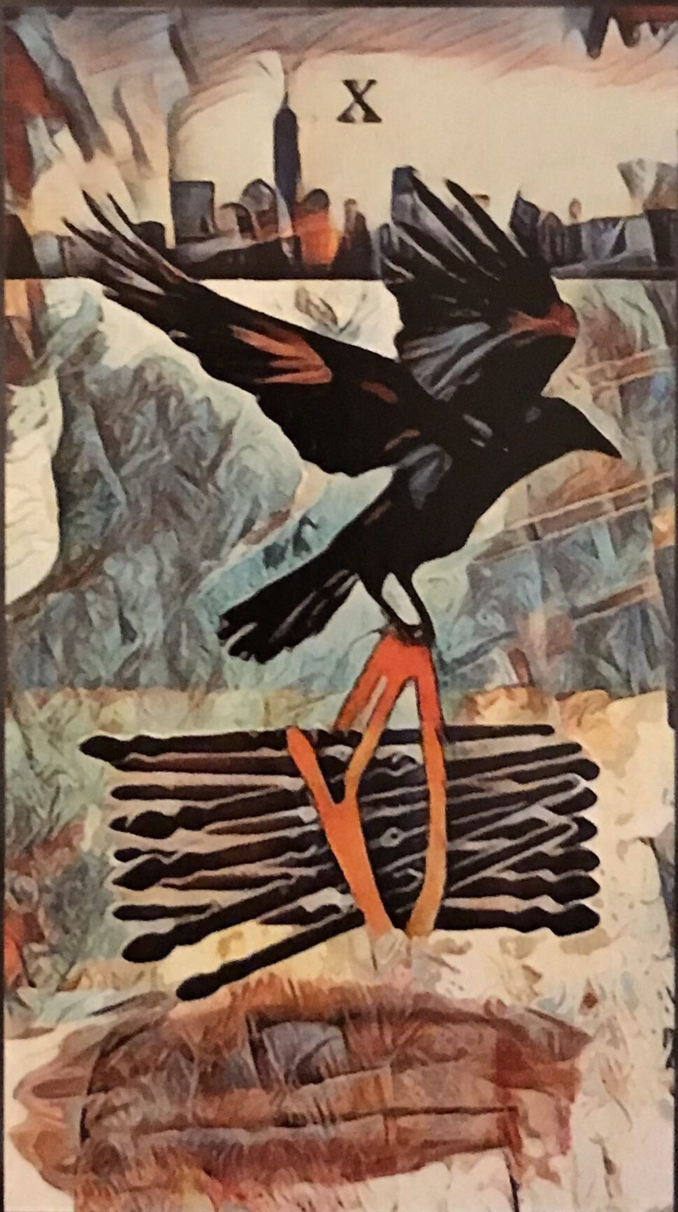 Featured card of the day 10 of wands crow tarot by mj