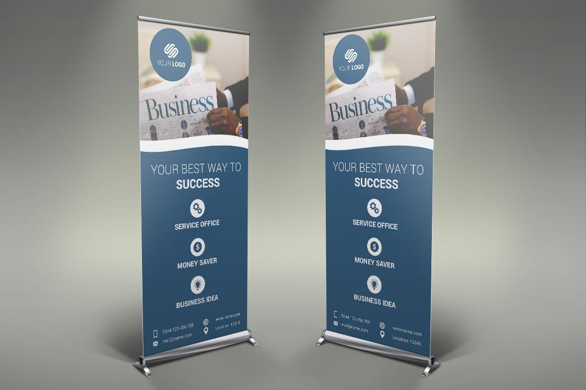 Business Roll Up Banner by Creatricks on creativemarket