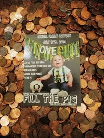 Green-Eyed Girl Productions: Oregon Duck First Birthday {Penny Party} College Savings Plan