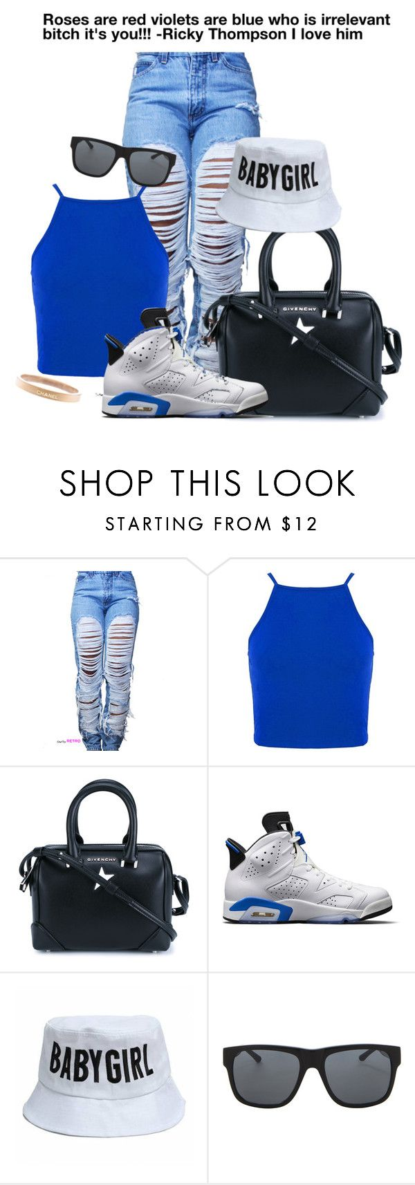 """""""Roses are blue??"""" by winterismyname ❤ liked on Polyvore featuring Givenchy, NIKE, Orlebar Brown, Chanel, women's clothing, women, female, woman, misses and juniors"""