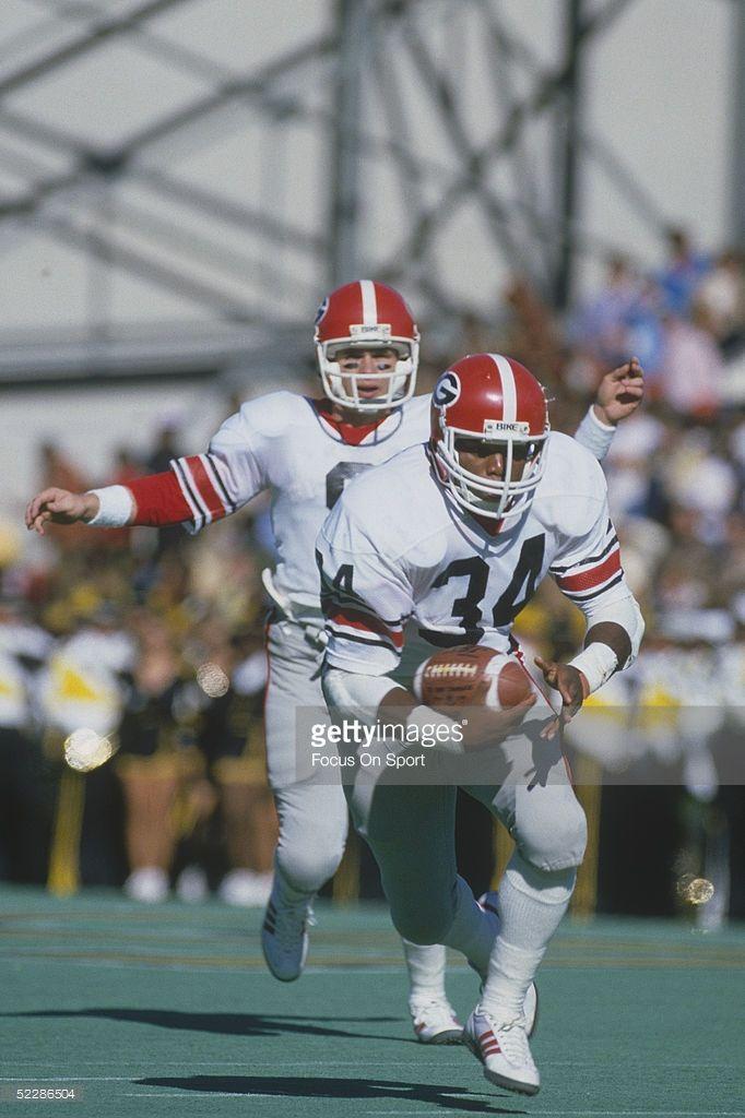 University Of Georgia S Running Back Herschel Walker Runs With The