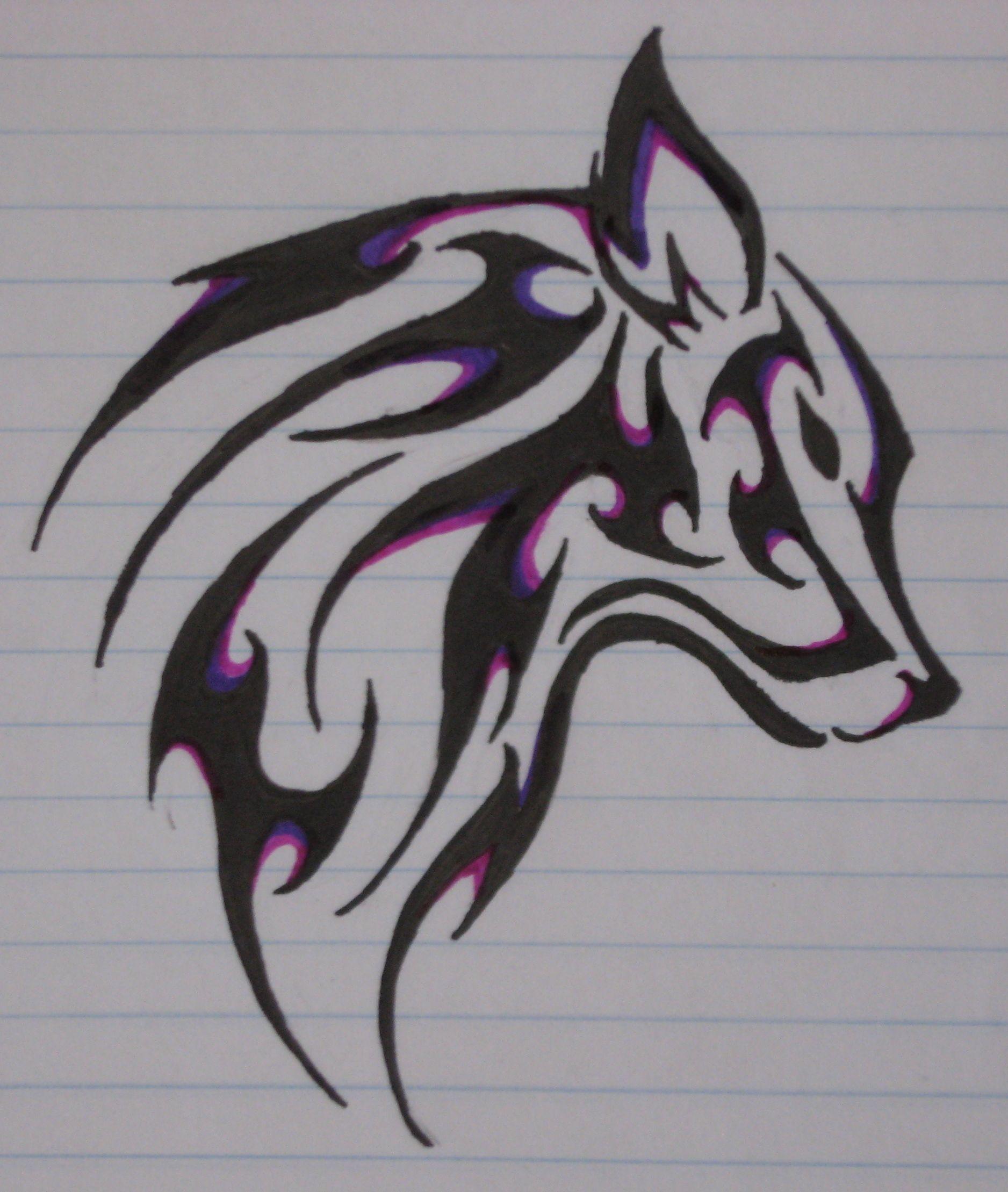 Wolf Tattoos How To Tattoo Tribal Wolf Tattoo Tribal Drawings Wolf Tattoo Design