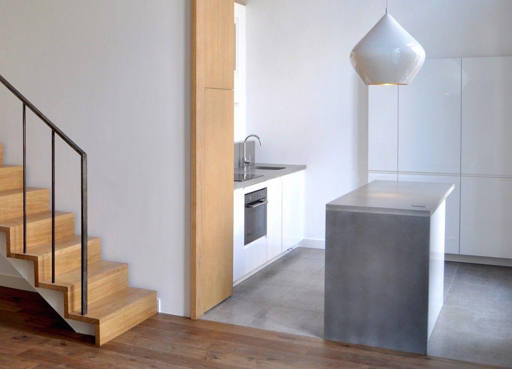 3DCO - mobilier béton - cuisine en béton massif  ultra haute performance
