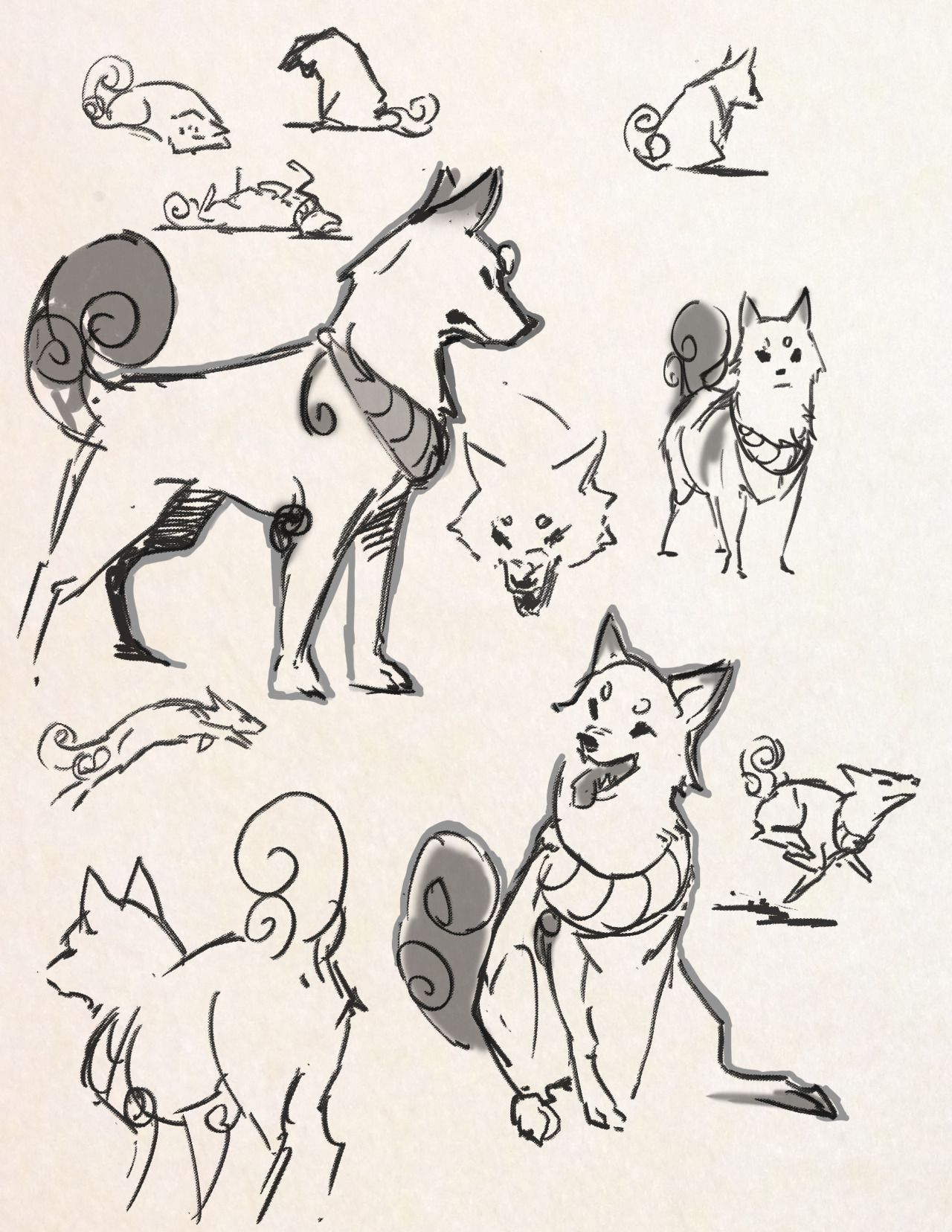 Kamome S Artworks Animal Drawings Dog Drawing Dog Sketch