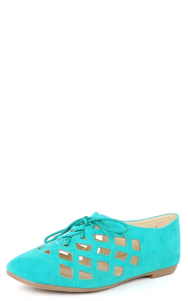 Lynna Cutout Laced Up Casual Shoes SEAFOAM