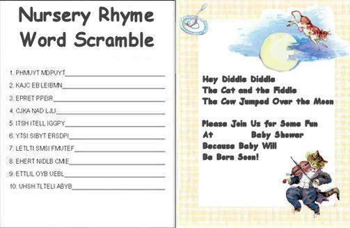 Nursery rhyme mother goose baby shower invitation baby shower nursery rhyme mother goose baby shower invitation filmwisefo Images