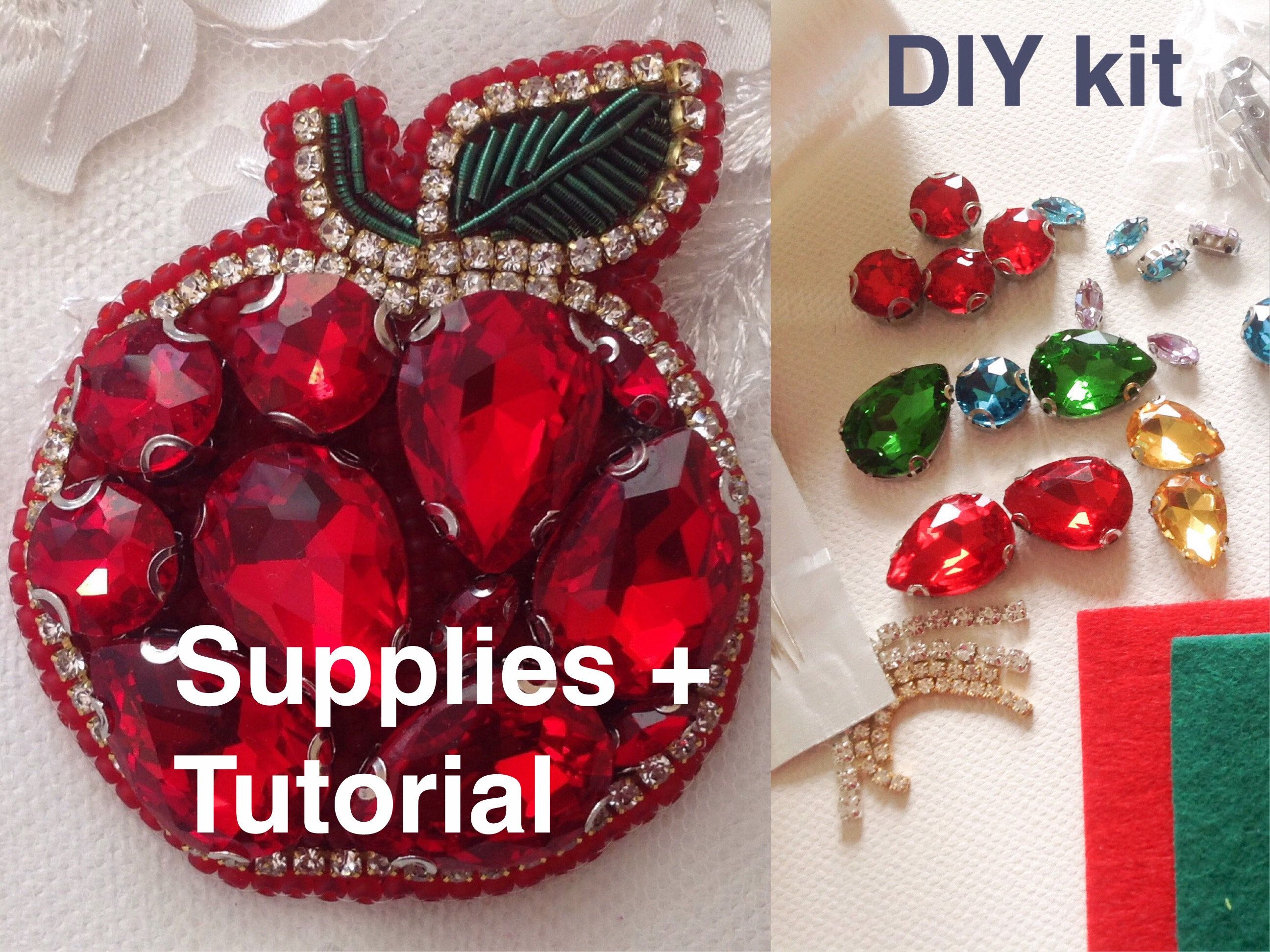 Tutorial diy | tutorial brooch | handmade jewelry | jewelry making.