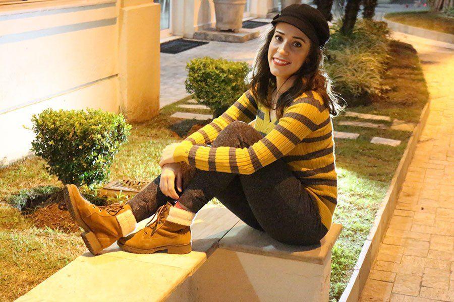 A calça de moletom (sweatpant)! Existe coisa mais gostosa de usar no frio? Ainda mais com bota e malha, fica super estiloso! http://petitandy.com