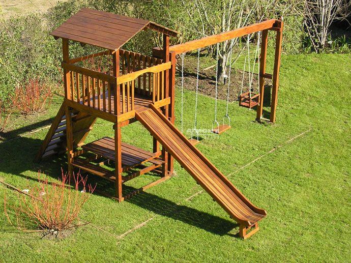 Juegos para ni os hechos con troncos buscar con google adornos patios chicos pinterest - Juegos de jardin para nios madera ...