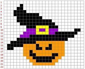 Zucca Di Halloween Pyssla.Coding E Pixel Art La Zucca Streghetta Di Halloween Elislerim