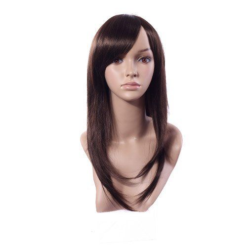 """NEW Charming Long Brown Hair Women's Full Wig/wigs for Women by MAYSU. $16.99. Front to Back (±2cm):25cm ,Top to Bottom (±2cm):55cm. Cap Size: Average,Fits average headsize (21.3""""-22.8"""" circumference). Cap Construction: Capless ,Bang: Full. Fiber: Synthetic, High Quality Synthetic Japanese Kanekalon. Length:Long. Scalp Capless Wigs are made specifically to ensure maximum comfort when being worn. The Smooth Closures can be easily adjusted for a more custom fit that is ri..."""