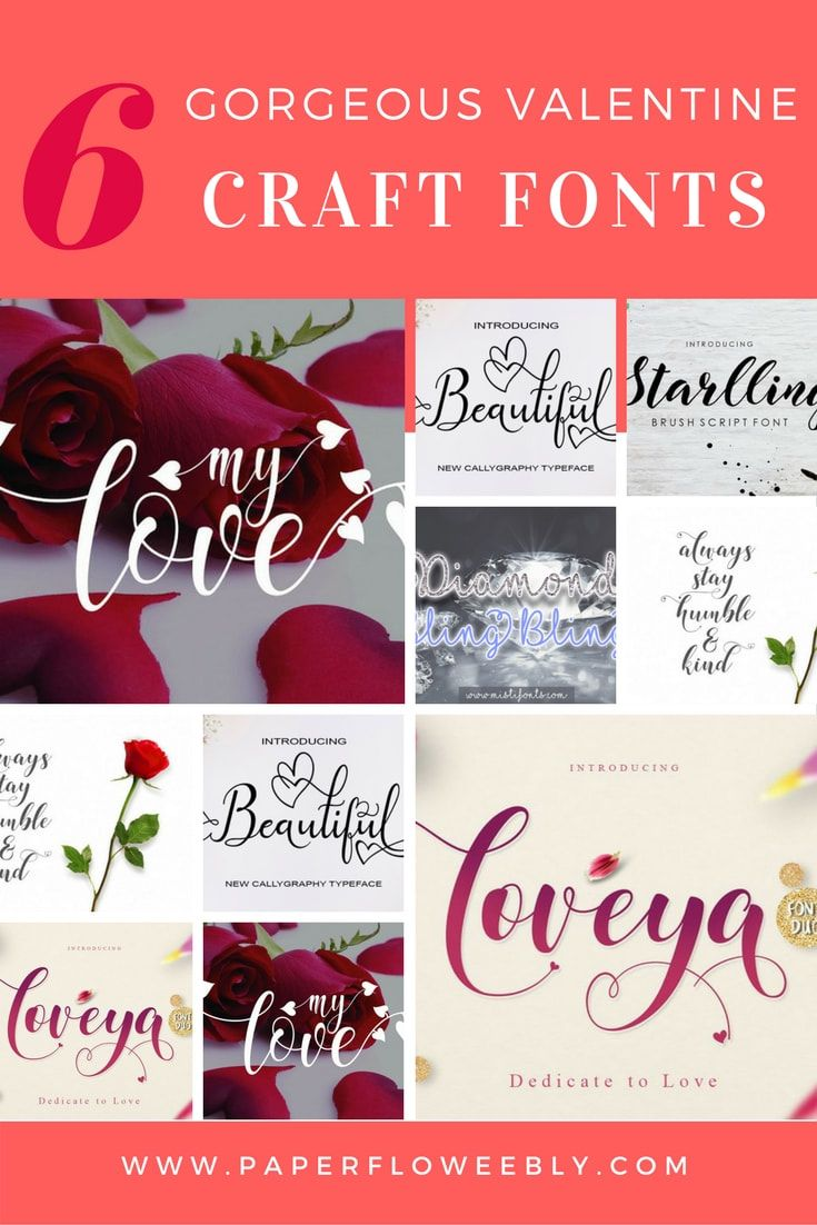 These 6 gorgeous Valentine craft fonts to make wedding invitations ...