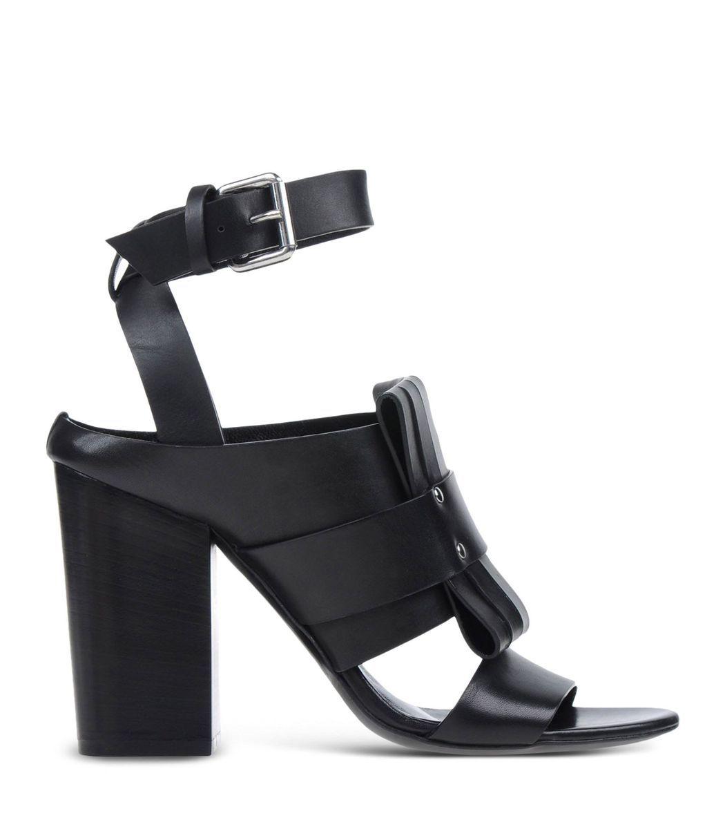 Mcq Alexander Mcqueen Black Leather Sandal   SHOES   Pinterest   Mon ... 84eca57e04a