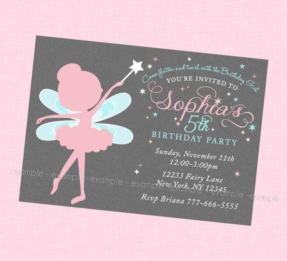 Beautiful fairy birthday invitation brooklynns 6th birthday beautiful fairy birthday invitation filmwisefo