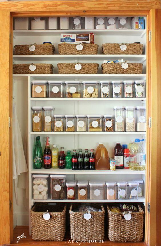 Ideas Para Organizar Tu Despensa Con Tarros Y Contenedores Ideas De Organización De Cocina Organizar La Casa Como Organizar Una Cocina