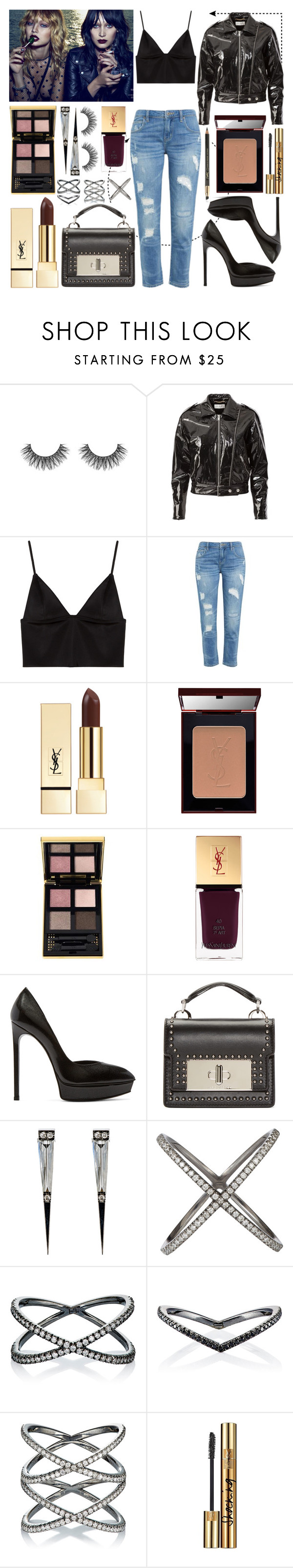 """Day & Night"" by riverinthedesert ❤ liked on Polyvore featuring Yves Saint Laurent, T By Alexander Wang, PUR, Marc Jacobs and Eva Fehren"