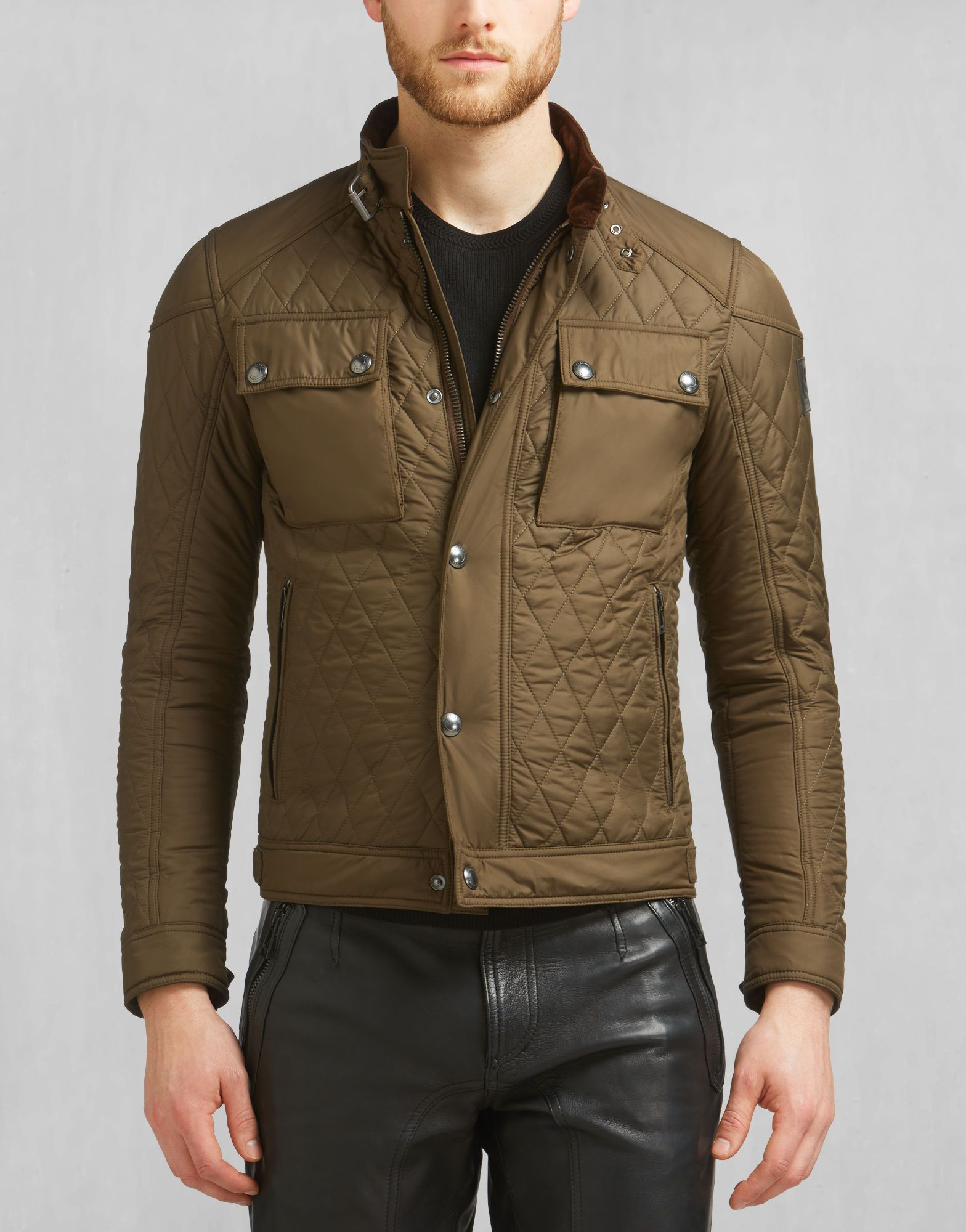 Racemaster Quilt Blouson Faded Olive Quilted Jackets Wardrobe