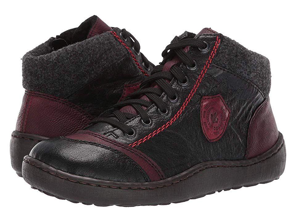 Rieker 44441 Simona 41 Women's Shoes SchwarzWineAnthrazit