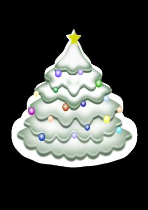 white christmas tree clip art