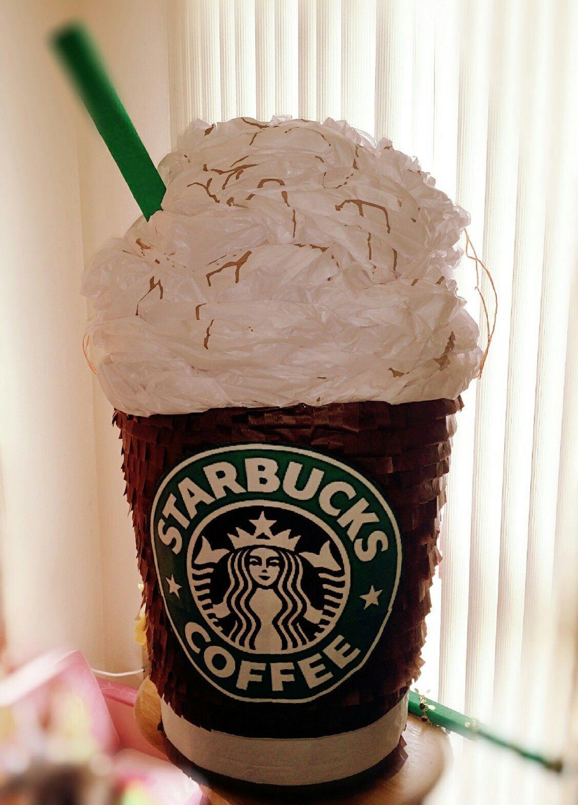 Starbucks piñata Coffee valentines, Starbucks valentines