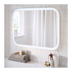 STORJORM Miroir avec éclairage intégré blanc