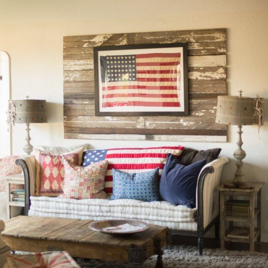 Little Additions Like This Framed American Flag Can Make Your Home