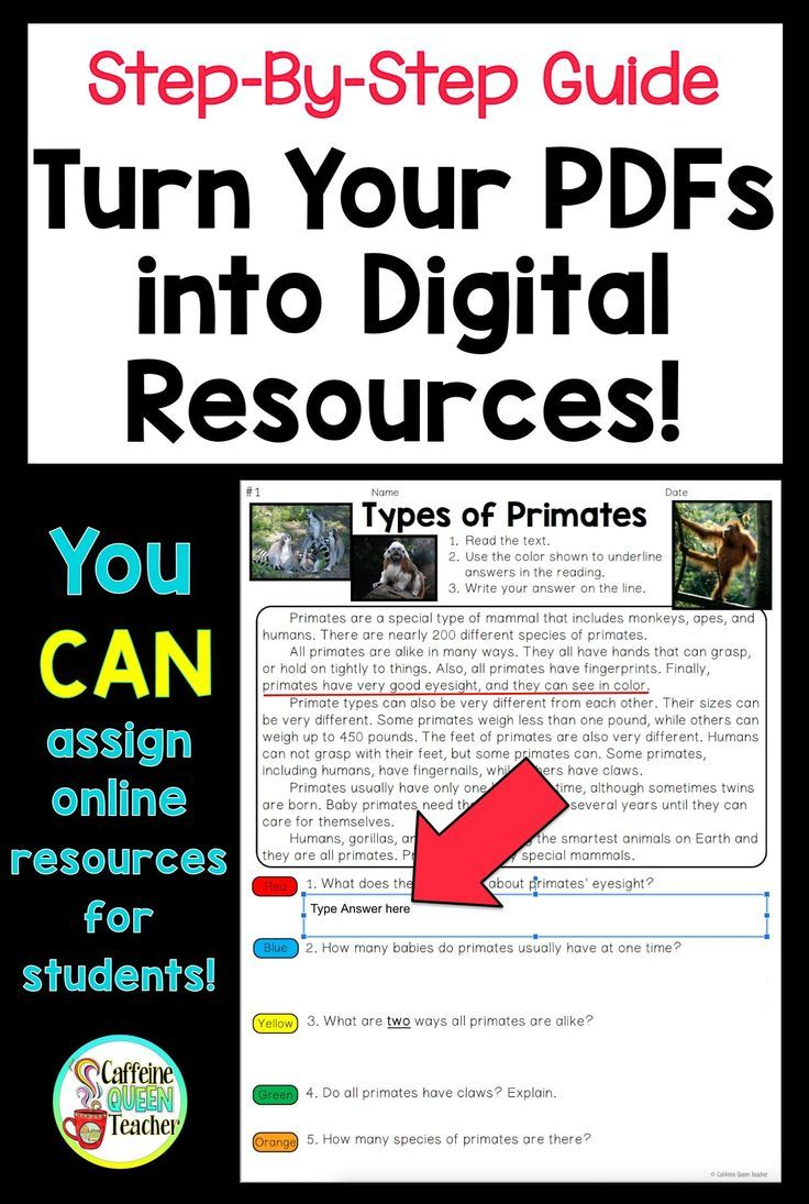 Turn a Worksheet into a Digital Resource