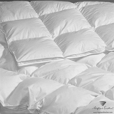 Highland Feather B2 111 La Palma 260 Thread Count Goose Down Duvet Down Comforter Comforters White Down Comforter