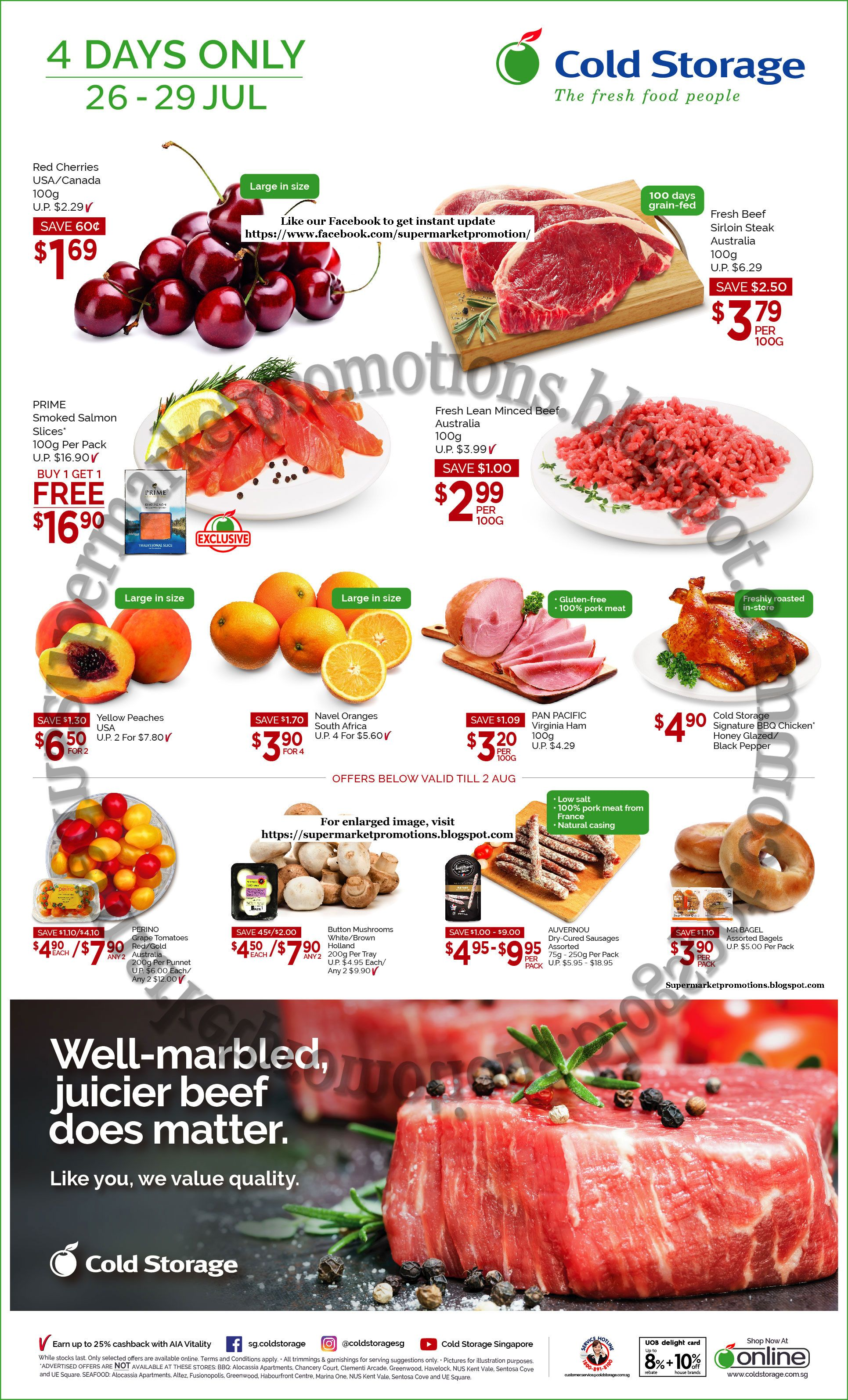 Cold Storage supermarket promotion Cold Storage 4 Days Only 26 - 29 July 2018 Red cherries  sc 1 st  Pinterest & Cold Storage supermarket promotion Cold Storage 4 Days Only 26 - 29 ...