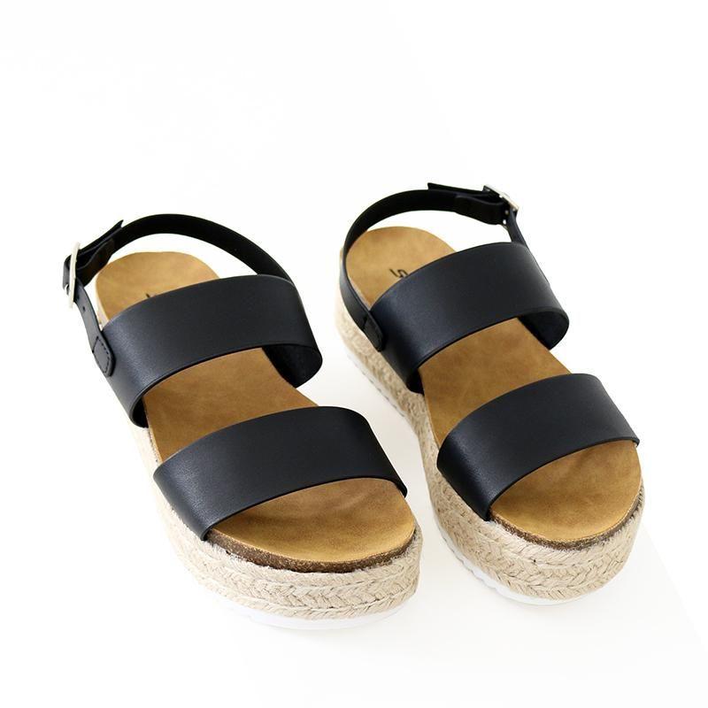 8bccf1620177 Kazoo black sling back sandal flatform